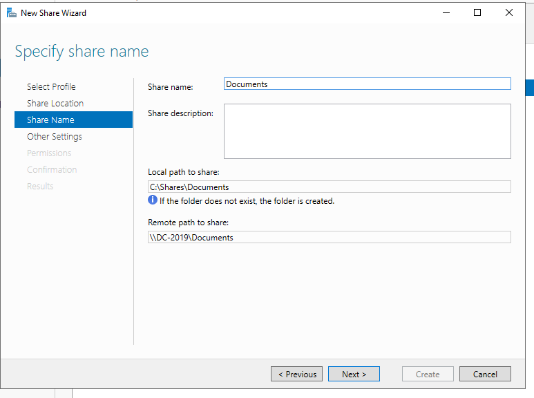 Configure Server 2019